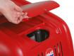 Přístup k regulačnímu ventilu s odkládací přihrádkou